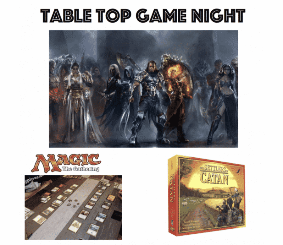 Table Top Game Night申し込みお知らせ